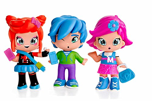 Pinypon by PINY PINY – Pack de 3 figuritas Michelle, Rita y Sam (Famosa 700014144)