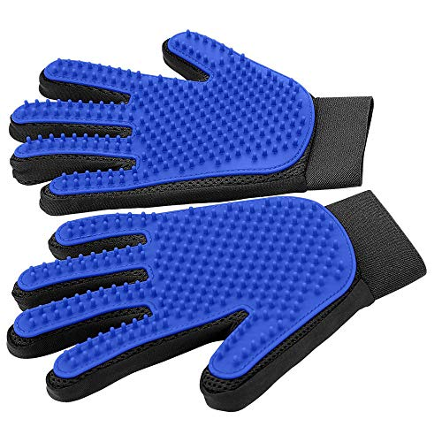 KADYA Pet Grooming Glove ,Pet Hair Remover Mitt for Dogs, Cats & Horses with Long or Short Fur, Perfect for Shedding…