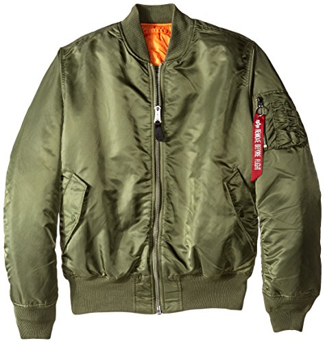 Alpha Industries Men's Tall Size MA-1 Flight Jacket, Sage, LT