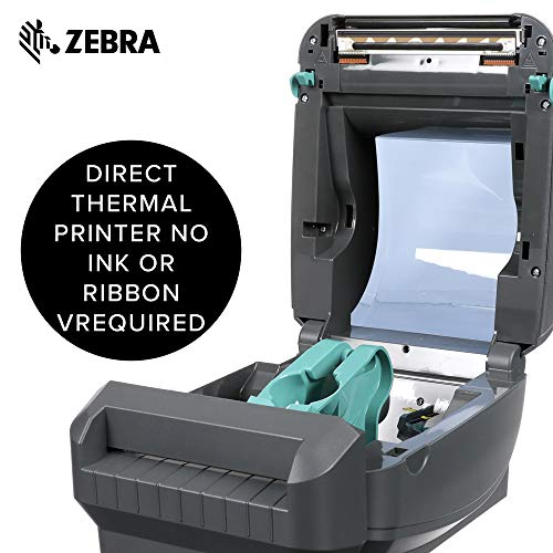 Zebra - GX420d Direct Thermal Desktop Printer for Labels, Receipts, Barcodes, Tags, and Wrist Bands - Print Width of 4 in - USB, Serial, and Parallel Port Connectivity (Includes Cutter) by Zebra Technologies (Image #3)