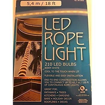 Amazon paradise led rope light 18 feet indooroutdoor home led rope light 210 led bulbs warm white aloadofball Choice Image