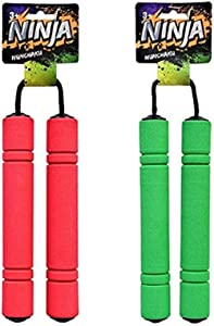 2 Nunchakus. Boys Pretend Ninja Play Children Kids Karate Practice Nunchucks. Ninja Costume Foam