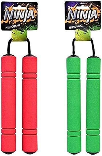 Amazon.com: 2 Nunchakus. Los niños Pretend Ninja Play Niños ...