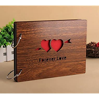 Diy Photo Album Forever Love Anniversary Scrapbook Hollow Out 8 X 6 Inches