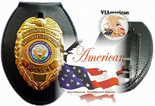 VIAmerican - Bright Gold Security Forces Badge with - Security Gold Badge