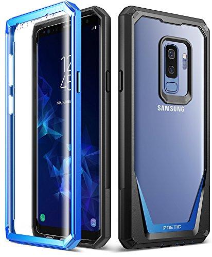 ミシンブラシオプショナルSamsung Galaxy S9 Plus ケース、ポエティック?ガーディアン、Samsung Galaxy S9 Plus ケース [傷がつかない360度プロテクション]フルボディー?クリアカバー、耐久性の強いハイブリッドケース、用保護スクリーン内臓
