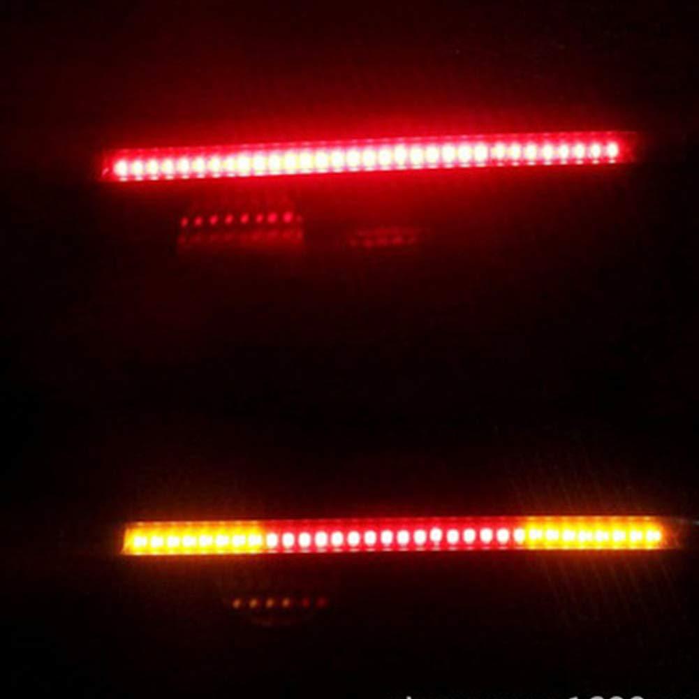 Behavetw moto 48/SMD LED illumina impermeabile coda freno luce LED indicatore di direzione universale flessibile strisce LED effetto luce