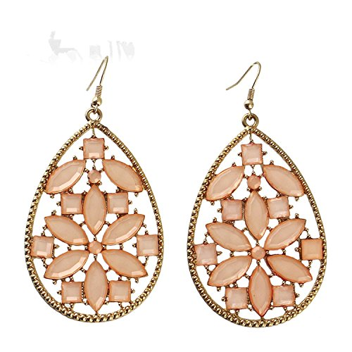 Earings Women Fashion Pink Jewelry Big Dangle Gift Earrings Elegant Gold-Color - Co & Store Tiffany Outlet