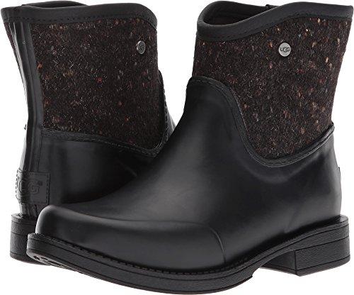 UGG Womens Paxton Textile Rain Boot Black Size 7