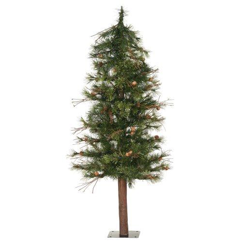 Vickerman Mixed Country Alpine Tree-Unlit, 3-Feet, - Pine Mixed Country Tree