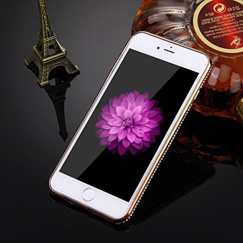 Phone Taschen & Schalen Für iPhone 6 Plus & 6s Plus Diamond verkrustete Liebe Muster Galvanisieren Rahmen TPU Schutzhülle ( Color : Gold )