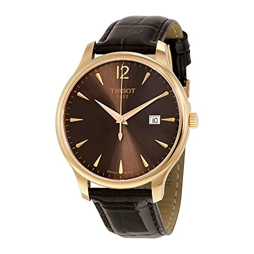Tissot Women's 'Tradition' Swiss Quartz Gold and Leather ...