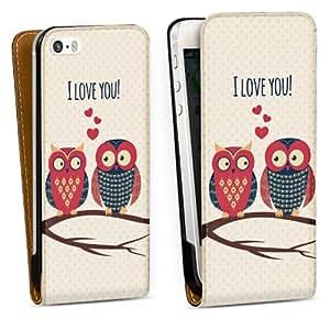 Diseño para Apple iPhone 5 S DesignTasche Downflip black - Loving Owls
