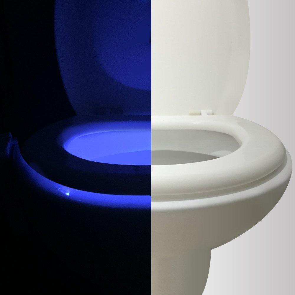 5-Stage Dimmer Light Detection Vintar 16-Color Motion Sensor LED Toilet Night Light