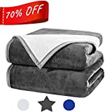 #7: Fayonline Luxury Double-sides Reversible Fleece Blanket Super Soft Warm Fuzzy Weighted Bed Blanket,Couch Blanket,Travelling and Camping Blanket 480 GSM King/Queen/Twin Size
