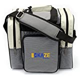 KAZE SPORTS Deluxe 1 Ball Bowling Tote with Two Side Pockets (Beige) For Sale