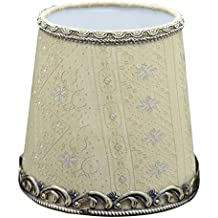 Cleeacc Lampshade Lamp Cover Decorative Handmade Modern PVC Linen Cloth Light Shade Small Size Candle Garden Chandeliers Wall Warm Light E14 Adapter Shades 110150140 mm Matcha