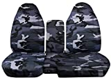 ford ranger seat cover camo - 1991-1997 Ford Ranger/Explorer Camo Truck/SUV Seat Covers (60/40 Split Bench) with Center Armrest/Console Cover: Gray Camouflage (16 Prints) 1992 1993 1994 1995 1996