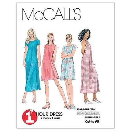 McCall's Patterns M6102 - Cartamodello per cucire abiti da donna, realizzabili in 2 lunghezze diverse, confezione da 1, colore: bianco McCall' s Patterns M61020D0