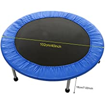 Korie Mini Rebounder Trampoline - Max Load 220lbs Exercise Fitness Gymnastics trampoline for Indoor Garden Workout Cardio Training with Safety Pad
