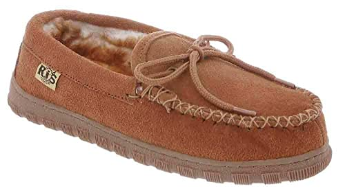RJs Fuzzies Womens Moccasin 9 Chestnut