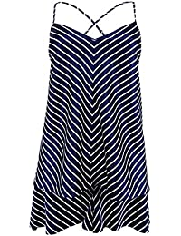 Lauren Womens Stripe Satin Camisole Pajamas