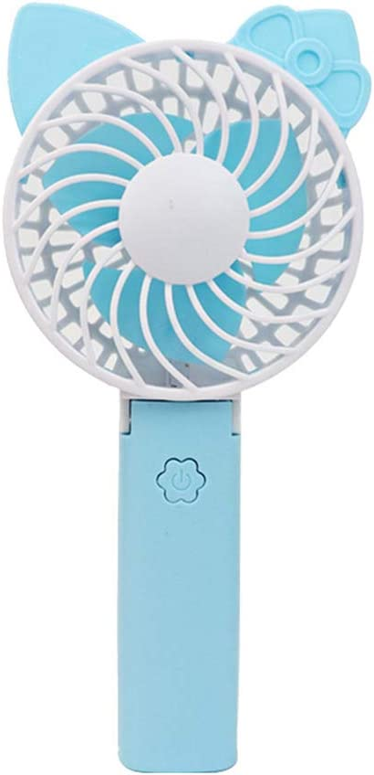 Pink A Cartoon Cooling Fan Mini Handheld USB Powered Rechargeable Cooling Fan Summer Portable for Home Office Study Outdoor Travel
