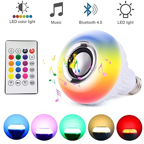 (Ayygift 1Piece LED Flame Music Lamp Amazing Bluetooth Music Bulb Creative Music Light Lamp Bulb)
