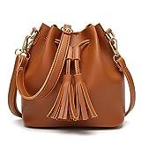 Ladies purse,Women Shoulder Bag Crossbody Messenger Bag with Tassel Leather Wallets Duseedik Clearance