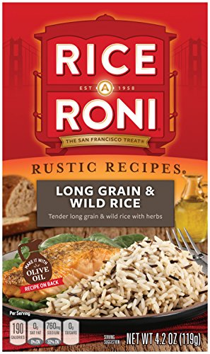 - Rice a Roni, Rustic Recipies, Long Grain and Wild Rice Mix 4.2oz (Pack of 12 Boxes)