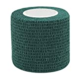 COMOmed Self Adherent Cohesive Bandage FDA Approved 2''x5 Yards First Aid Ace Bandages Stretch Sport Athletic Wrap Vet Tape for Wrist Ankle Sprain and Swelling,Dark Green(6 rolls)