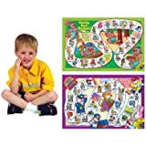 Say and Do Vocabulary Laminated Games - Super Duper Educational Learning Toy for Kids