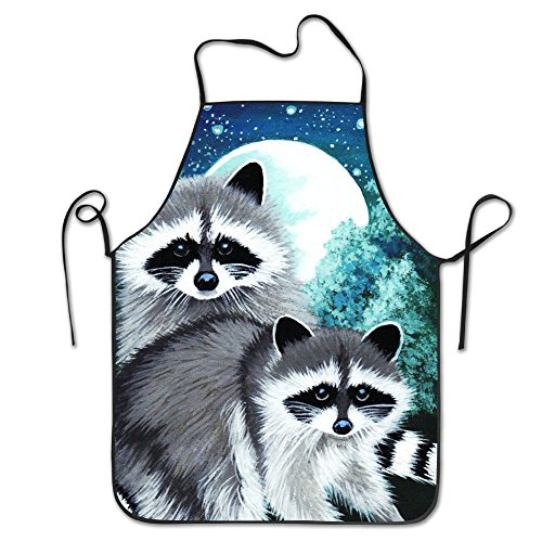 Price comparison product image Moonlight Raccoons New Fashion Housewife Home Chef Cooking Apron Working Chefs Kitchen Cooking Cook Women's Bib Apron