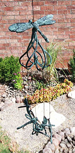 Dragonfly Chimes (Beautiful Cottage Garden Dragonfly Aluminum Resonant Relaxing Wind Chime Patio Garden Decor)
