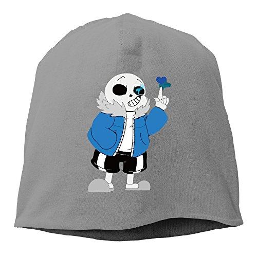 (Runningway Unisex Undertale Sans Frisk Game Outdoor Trendy Skull Cap Beanie Hat DeepHeather)