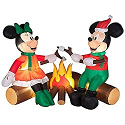 CHRISTMAS INFLATABLE DISNEYS MICKEY AND MINNIE MOUSE...
