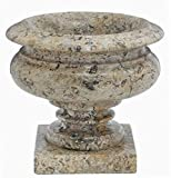 Coral Stone Planter Vase, Traditional Coral 35th Anniversary Gift