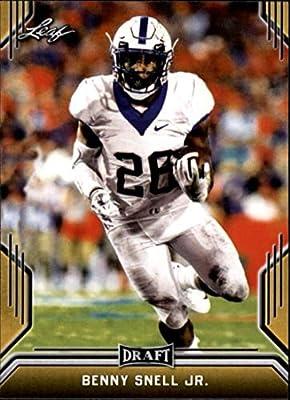 2019 Leaf Draft Gold Football RC Rookie Card #5 Benny Snell Jr. Kentucky