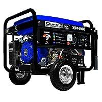 DuroMax XP4400E 4,400 vatios 7.0 HP OHV Generador portátil a gas de 4 tiempos, con kit de ruedas y arranque eléctrico