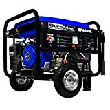 DuroMax XP4400E 4,400 Watt 7.0 HP OHV 4-Cycle Gas Powered Portable Generator With Wheel Kit And...
