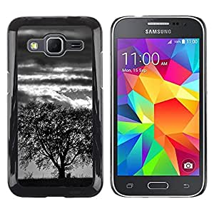 LECELL--Funda protectora / Cubierta / Piel For Samsung Galaxy Core Prime -- Árbol de la tormenta --