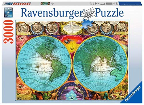 Ravensburger Antique Map Puzzle 3000 Piece Jigsaw Puzzle for Adults - Softclick Technology Means Pieces Fit Together - Map Pc 2000