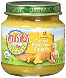 earths best stage 2 baby food - Earth's Best Organic Stage 2, Corn & Butternut Squash, 4 Ounce Jar (Pack of 12)