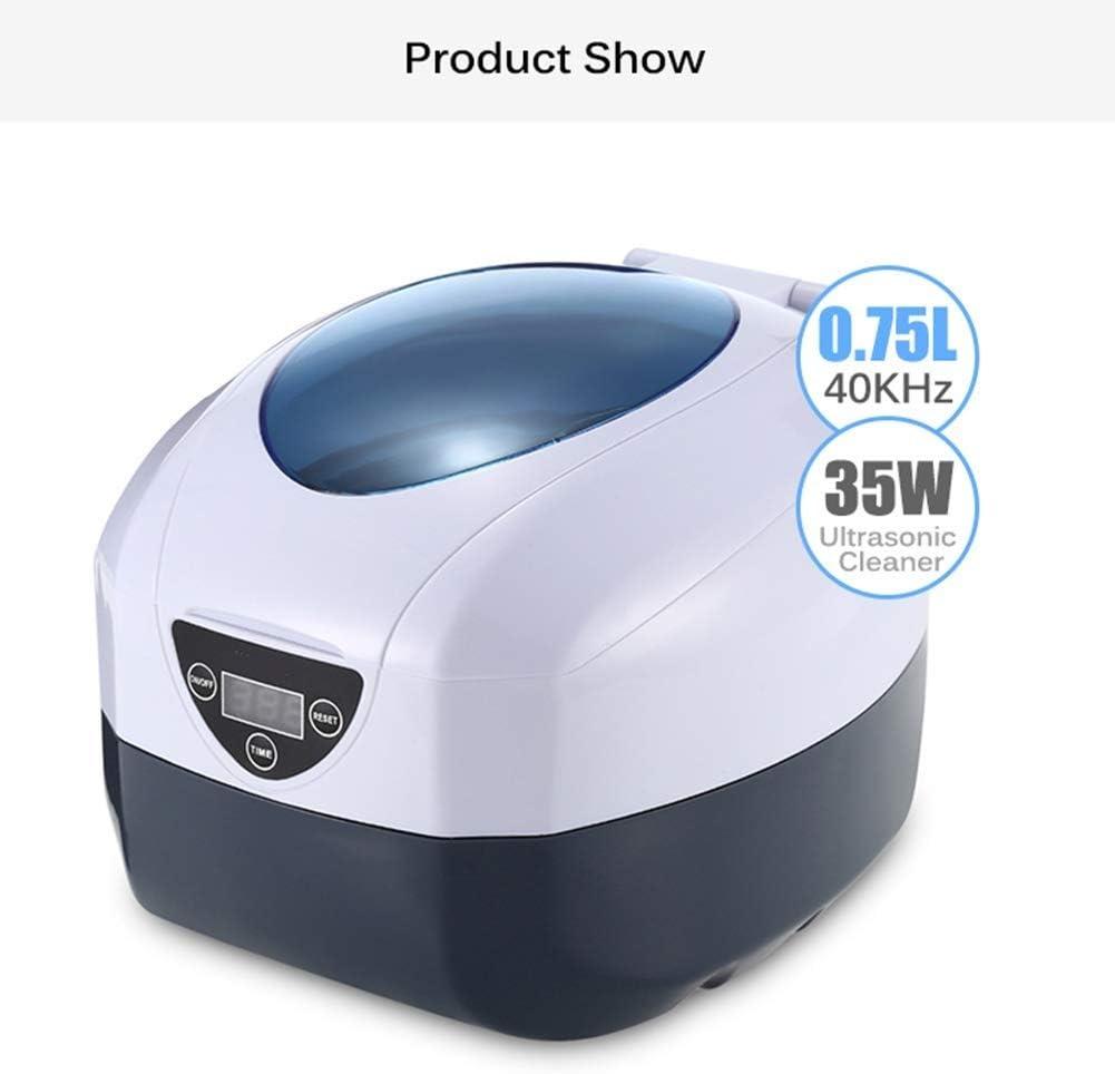 Atten Bagno ad ultrasuoni Professionale Ultrasonic Cleaner con i monili Display LED Digital Vigilanza Occhiali Pulizia della Macchina 0.75L
