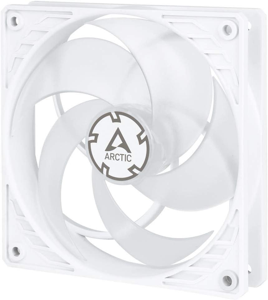 Arctic P12 PWM - Ventilador con PWM (120 mm, optimizado para la presión), Color Blanco y Transparente
