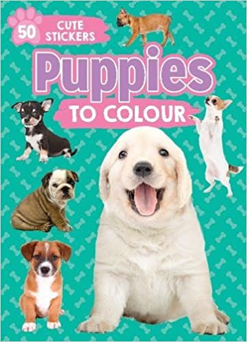 Puppies To Colour 50 Cute Stickers 9781474882132 Amazon Com Books