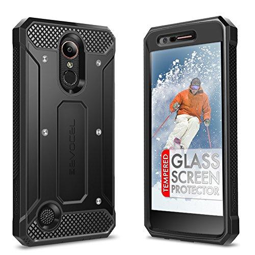LG K20 Plus Case, Evocel [Explorer Series] with FREE [LG K20 Plus Glass Screen Protector] Premium Full Body Case [Slim Profile][Rugged Belt Clip Holster] For LG K20 Plus / K20 V / LG Harmony, Black by Evocel (Image #6)