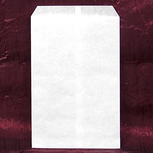 200 pcs White Kraft Paper Merchandise Gift Bags Shopping Sales Tote Bags 6