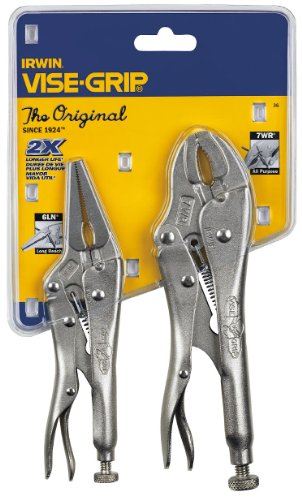 Sets Pliers Original Locking (IRWIN VISE-GRIP Original Locking Pliers with Wire Cutter Set, 2 Piece, 36)