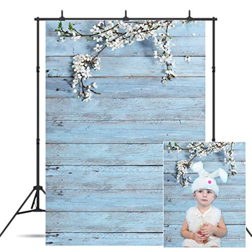CYLYH 5x7ft Mother's Day Vinyl Wood Backdrop Antique Wooden Plank Board Floral Branch Petals Background Photography Decoration 129